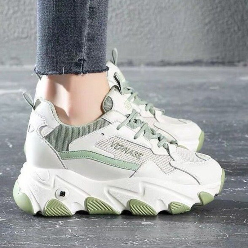 Women Platform Sneakers Ulzzang Fashion Chunky Casual Shoes Woman Tennis Female Basket Trainers Spring Lace Up Old Dad Shoes