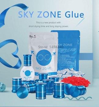 10 bottles Sky Zone Glue Eyelash Extensions Glue 1-2s dry time Fastest Strongest Lash Glue 5ml Most Powerful keep 6-7weeks