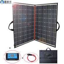 140w 18v solar panel flexible foldable home kit portable outdoor charger 150w 5v usb for 12v battery car RV camping hiking China