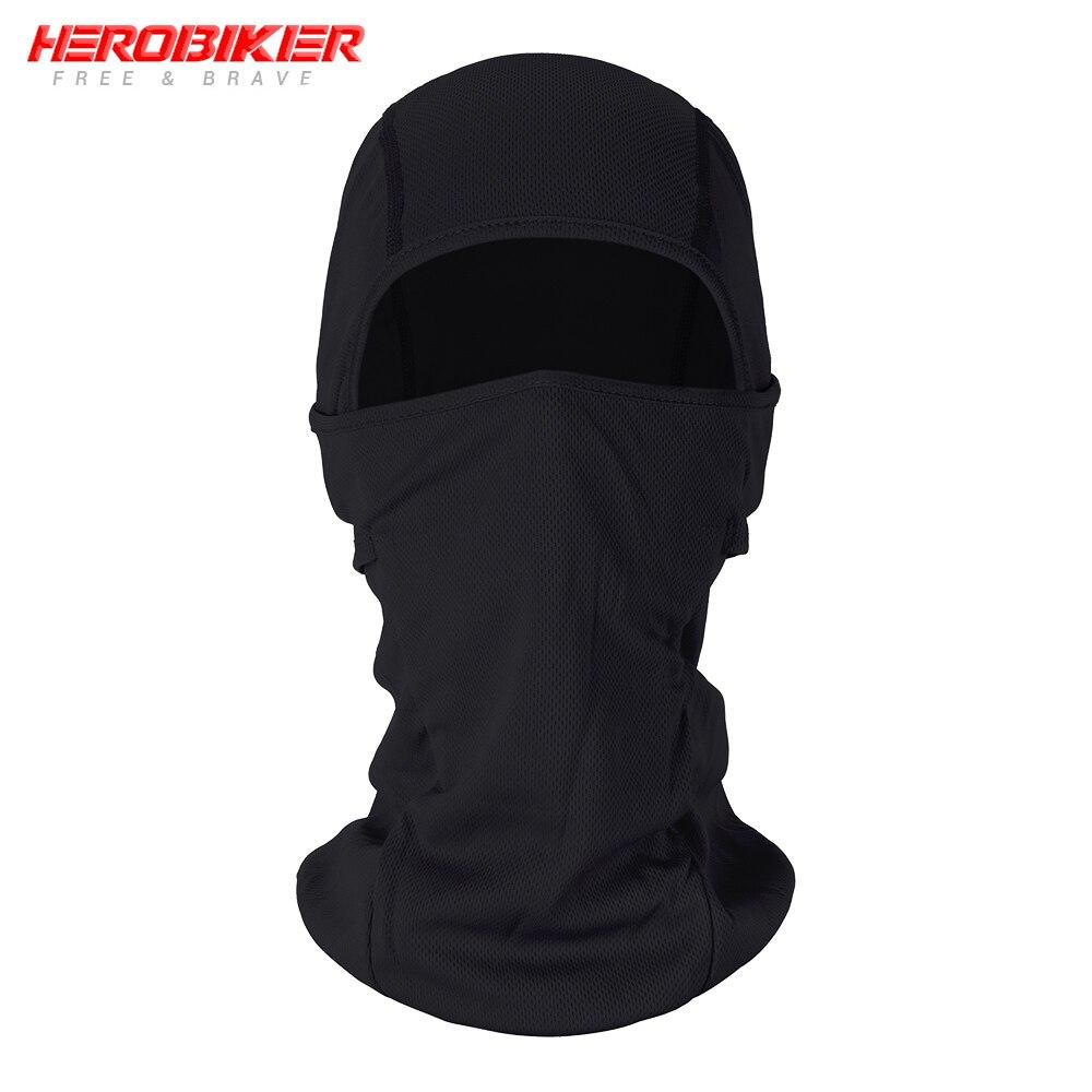 HEROBIKER мотоциклетная Балаклава маска для лица мото теплая ветрозащитная дышащая страйкбольная Пейнтбольная велосипедная Лыжная маска для лица мужской солнцезащитный шлем - Цвет: BE-01