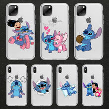 Cute Gifts Stitch cartoon piglet Kiss couple Phone Case For iPhone 11 pro 4S 5 5S 6 6s 8 7 Plus X XR XS MAX Silicone TPU Cover(China)