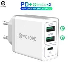 2 ポート QC3.0/FCP/AFC 、 1 ポート PD3.0 高速壁電荷 36 ワット USB C 電源アダプタ iPhone11/iPad/ピクセル/S8 /S9/S10/note9/Huawei 社/キビ