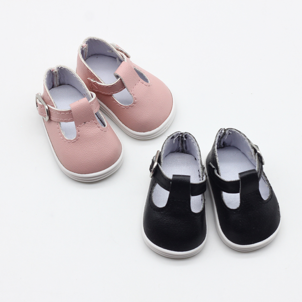 Hot Sale 1Pair 5cm Canvas Shoes For 14inch Doll Girl Gift For BJD EXO Baby Dolls Accessories Toys