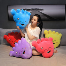40cm Large Creative Feet Filled With Plush Toys Cute Footprints Children's Toy Pillow Kids Funny Birthday Gifts
