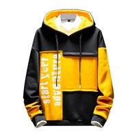 Men's Patchwork Sweatershirt New Style Hoodie Japanese Hoodie Long Sleeves Streetwear Hip hop Sweatershirt Off White Tops