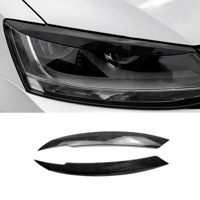 Car Headlights Eyebrow Eyelids Sticker For Volkswagen Jetta MK6 Car