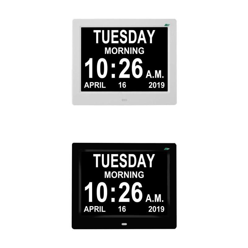 8 дюймов IPS цифровые часы календарь с датой день напоминание для пожилых и детей N1HF|Будильники|   | АлиЭкспресс