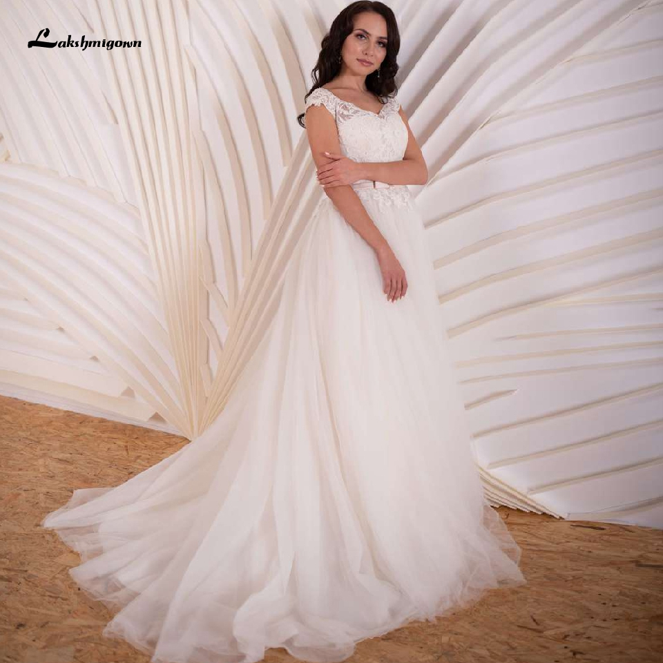 Vestido De Noiva Plus Size Simples Bridal Dress Vintage Lace Embroidery Wedding Gowns 2020 China Custom Made Tulle Mariage