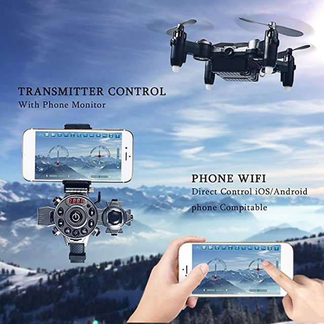 Watch Drone Mini Quadcopter Wrist Watch Design Mini Foldable Quadcopter Watch Drone RC aircraft Toys 4 Channel Gyro Aircraft 1