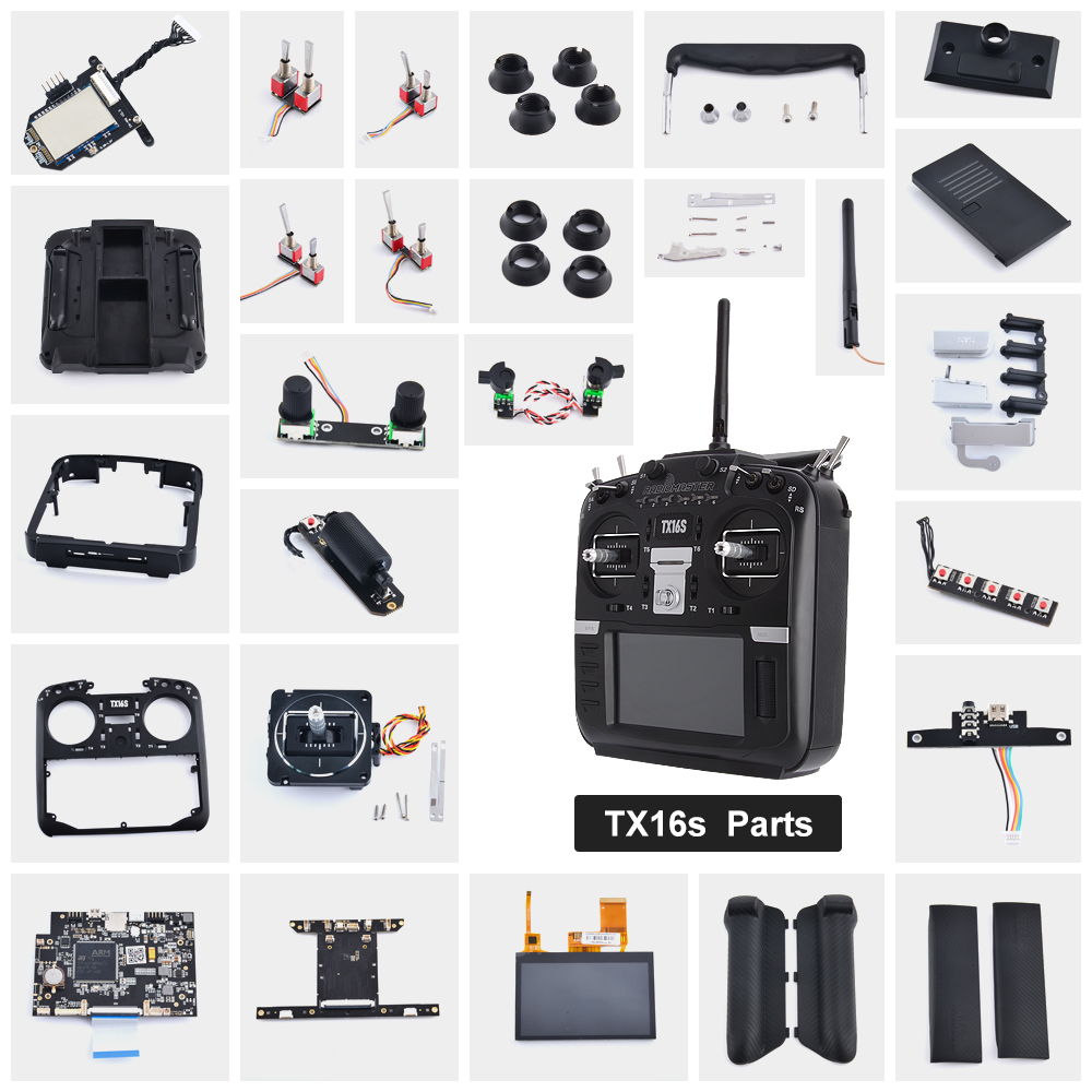 RadioMaster TX16S Factory Original Parts 29 Types Fit For Replacement TX16S Hall TBS Sensor Gimbals 2.4G 12CH Radio Transmitter