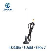 2 pièces 433 MHz Lora antenne avec Base magnétique Omni 433 M antenne SMA Wifi antenne pour la Communication avec câble 1m 3m TX433 XPL 300