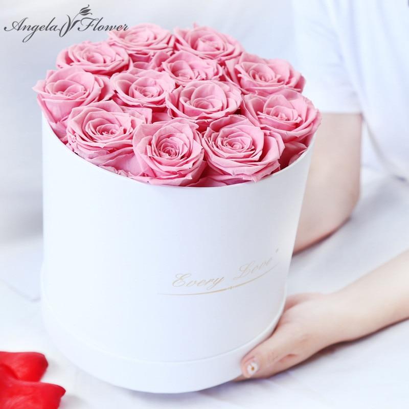 Настоящая Сохраненная Роза вечный цветок обнимает ведро Подарочная коробка бессмертная Роза День рождения День Святого Валентина подарок ...