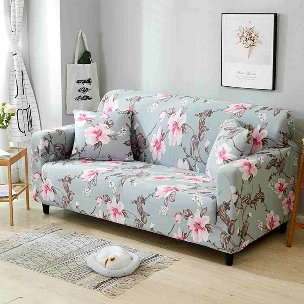 1/2/3/4 Peony Sofa Mebel Cover Kursi Sofa Melindungi Kursi Empuk Sarung All-In tahan Slip Sofa Cover