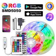 Led Strip Light 2.5m-30m 5050 RGB Flexible Ribbon LED Tape Room Decoration Neon Lamps Set Diode Wall Backlight 12V With Adapter