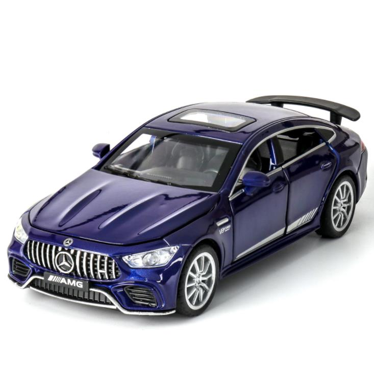 1:32 BENZ AMG GT63 Race Car Diecasts & Toy Vehicles Metal Car Model Sound Light Collection Car Toys For Children Christmas Gift