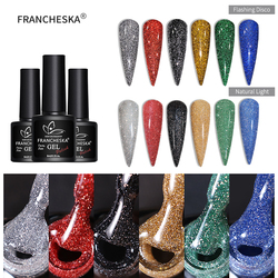 Glitter UV Gel Flash Nail Polish Glitter Silver Laser Gel Nail Polish Platinum Gel Phototherapy Glitter Disco Gel 8ml TSLM1