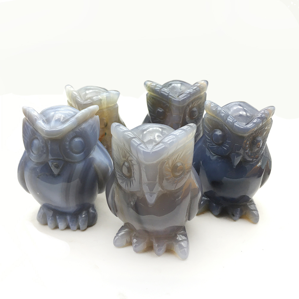 Onyx Cat Animal Natural Stone Carvings Feng Shui Good Luck Figurines Gift Idea.