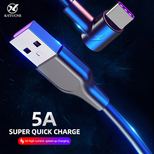 5A USB Type C Cable For Huawei P30 P20 Pro Super Charge Elbow Type-C Xiaomi 6 8 Supercharge Data Sync