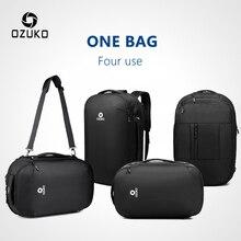 OZUKO, мужские многофункциональные рюкзаки для ноутбука 15,6 дюймов, новинка, модная школьная сумка для подростков, водонепроницаемые мужские сумки для путешествий Mochila