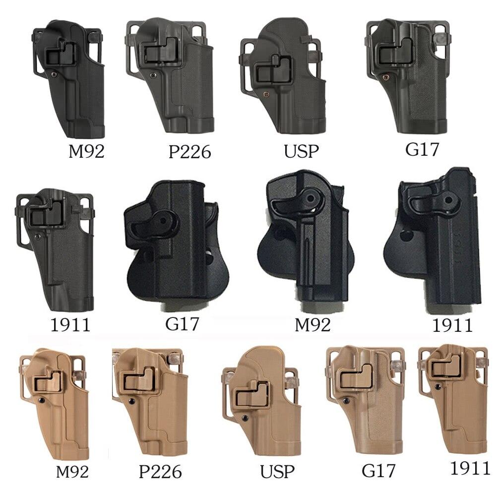 Plástico glock pistola coldre apto para m92 p226 usp g17 1911 tactical tan abs com preto verde multi cor