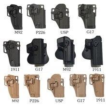 Funda de plástico para pistola Glock apta para M92 P226 USP G17 1911 Tactical Tan ABS con negro verde multicolor