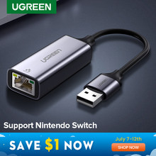 UGREEN USB 3,0 Ethernet Adapter USB 2,0 Netzwerk Karte zu RJ45 Lan für Windows 10 Xiaomi Mi Box 3 S nintend Schalter Ethernet USB(China)