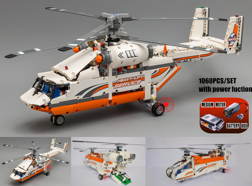 New Technic Plane Rescue Helicopter Fit Technic City Helicopter Building Blocks Bricks Gift Kid Set Boy