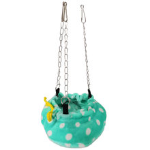 Sleeping Nest Reusable Practical Cute Winter Warm Dot Pattern Hanging Bed For Hamster Rat Durable Soft Washable Round Hammock(China)
