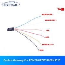 Lexucar canbus gateway decodificador emulador simulador para vw rcn210 rcd510 rns510 golf jetta mk5 mk6 passat