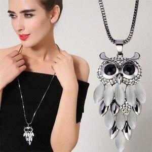 Классический дизайн в стиле ретро синтетический опал ожерелье с кулоном в виде совы с торговые ювелирные изделия для женщин вечерние юбиле...