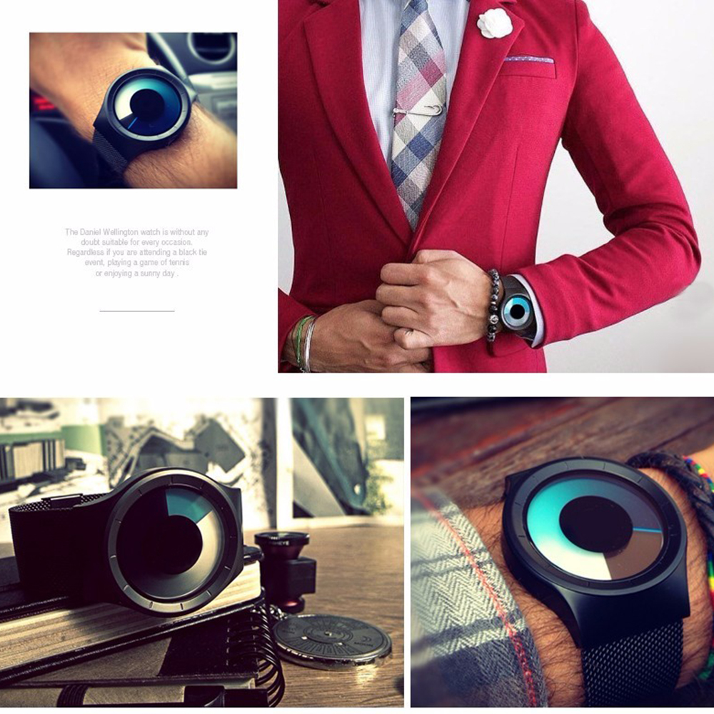Creative Quartz Watches Men Top FASHION Brand Casual Stainless steel Mesh Band Unisex Watch Clock Male female Gentleman gift 2
