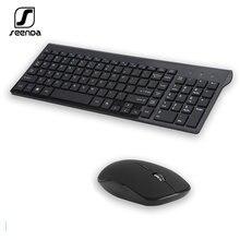 Seenda 24g Беспроводная Бесшумная клавиатура мышь расческа русская/испанская
