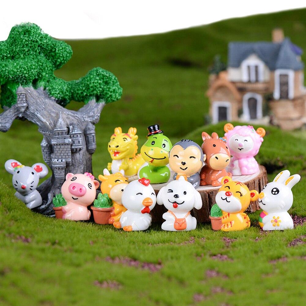 Big Discount Cea8 Cute 12 Zodiac Miniature Figurine Cartoon