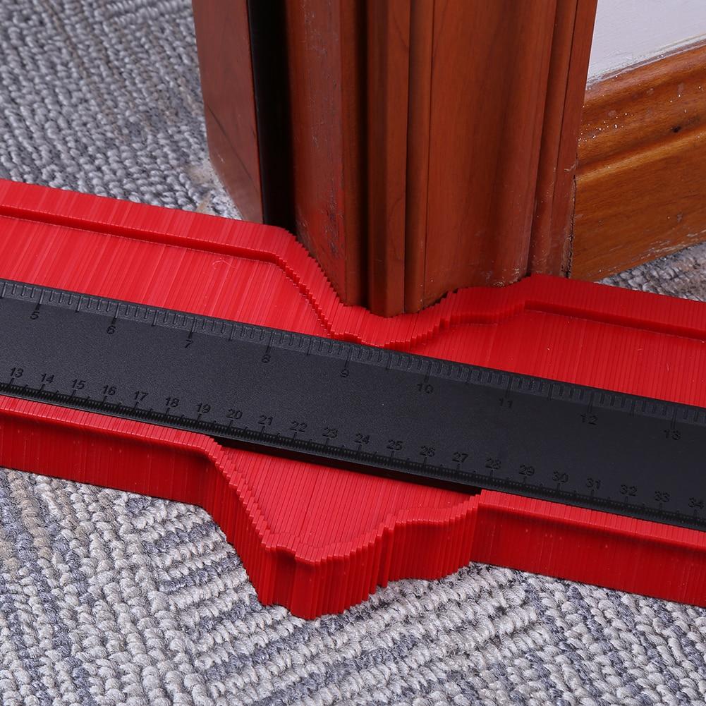 12/15/25cm Multi-functional Contour Gauge Tiling Laminate Tiles Irregular Edge Shaping Wood Measure Ruler Tiles Laminate Tiles