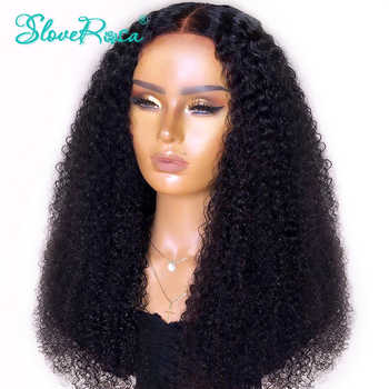 13x4 Mongolian Remy Lace Front Wigs 130% Density Afro Kinky Curly Human Hair Wigs Pre Plucked Bleached Knots Slove Rosa - DISCOUNT ITEM  35 OFF Hair Extensions & Wigs