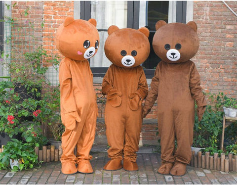 engracado cosplay roupas animais urso de pelucia desempenho traje brinquedo de pelucia adulto pele