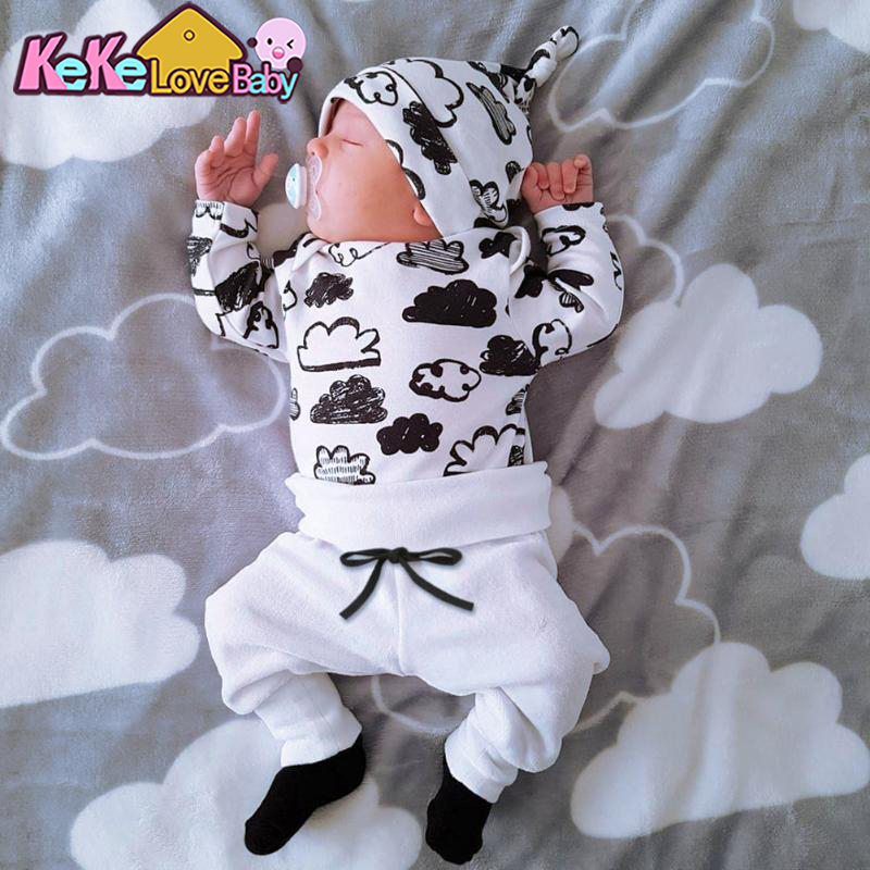 Baby Boy Clothes Set Autumn Style Newborn Infant Cartoon Cloud Top Pants Hat New Born Baby Boys Girls Outfits Kids Clothes Suit Baby Clothing Set Baby Clothingautumn Baby Clothing Aliexpress