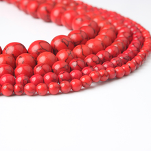 Linxiang Natural Jewelry Red Pine Bulk 4/6/8/10/12 mm Suitable for Making DIY Bracelet Necklace
