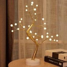 Светодиодный Ночной светильник с изображением деревьев, домашний Современный Простой корейский стиль, праздничное украшение, Рождество, свадьба, спальня, ветки, ночник
