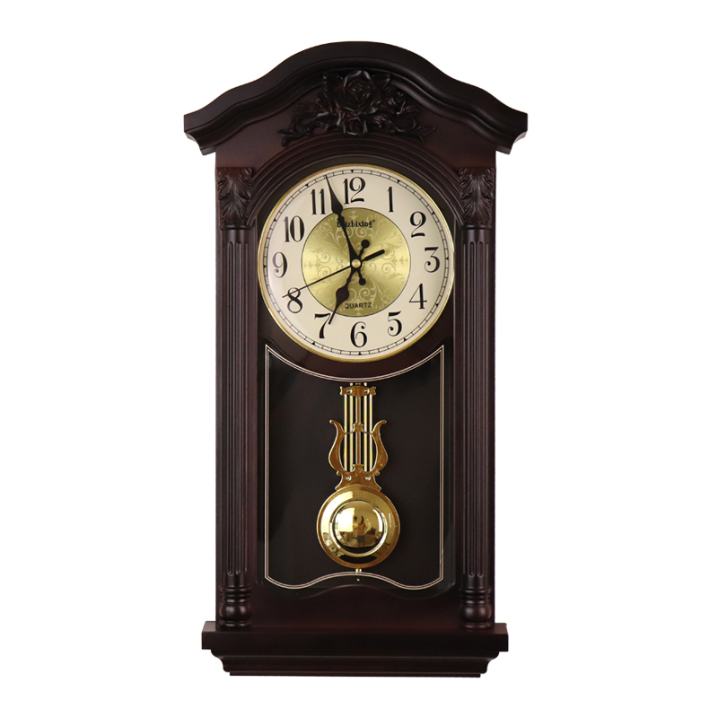 Chinese Large 3D Wall Clock Vintage Living Room European Pendulum Clock Wall Luxury Antique Retro Pendule Mural Loft Decor SC322