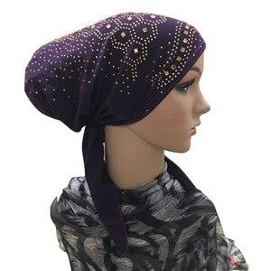 Image 3 - 이슬람 내부 Hijab 모자 여성 모자를 쓰고 있죠 Underscarf 이슬람 머리 랩 모자 모자