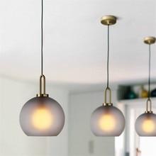 Postmodern Glass Ball Pendant Lights Restaurant Dining Room Kitchen Hanging Lamps Study Bedroom Bedside Decor Lighting Fixtures