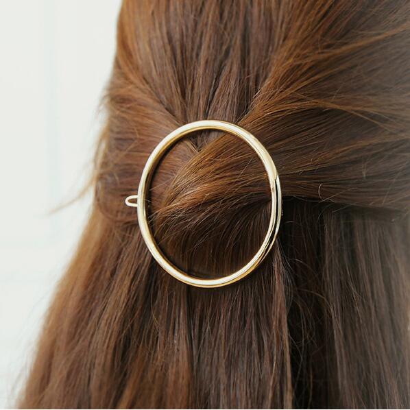 Заколка для волос, женские ножницы, бриллианты, круглые, луна, лист, единорог, сердце, простой, золотой, серебряный, для девочек, модный Подарочный Шарм