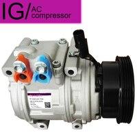 Para o compressor automático da c.a. para kia spectra 2.0 l4 sportage para hyundai tucson 2005-977012d700 977012e400 158303 4716028