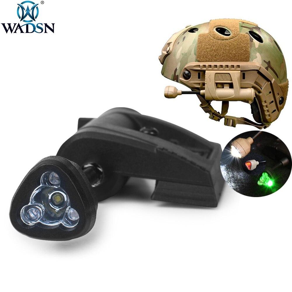 WADSN страйкбол тактический шлем светильник зарядка Mpls фонарь 4 режима ИК белый зеленый красный светодиодный шлем сигнальная лампа для военно...