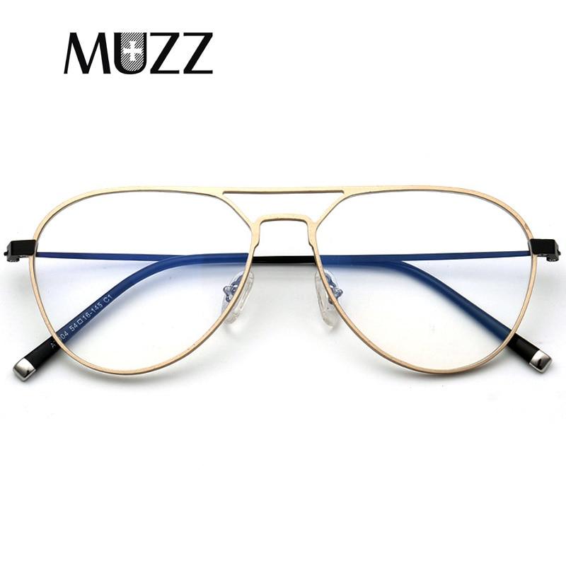 Aluminum Prescription Frame Men Pilot Optical Eyeglass Frame Titanium Legs Myopia Eyewear Frames Women's Full Frame Spectacles