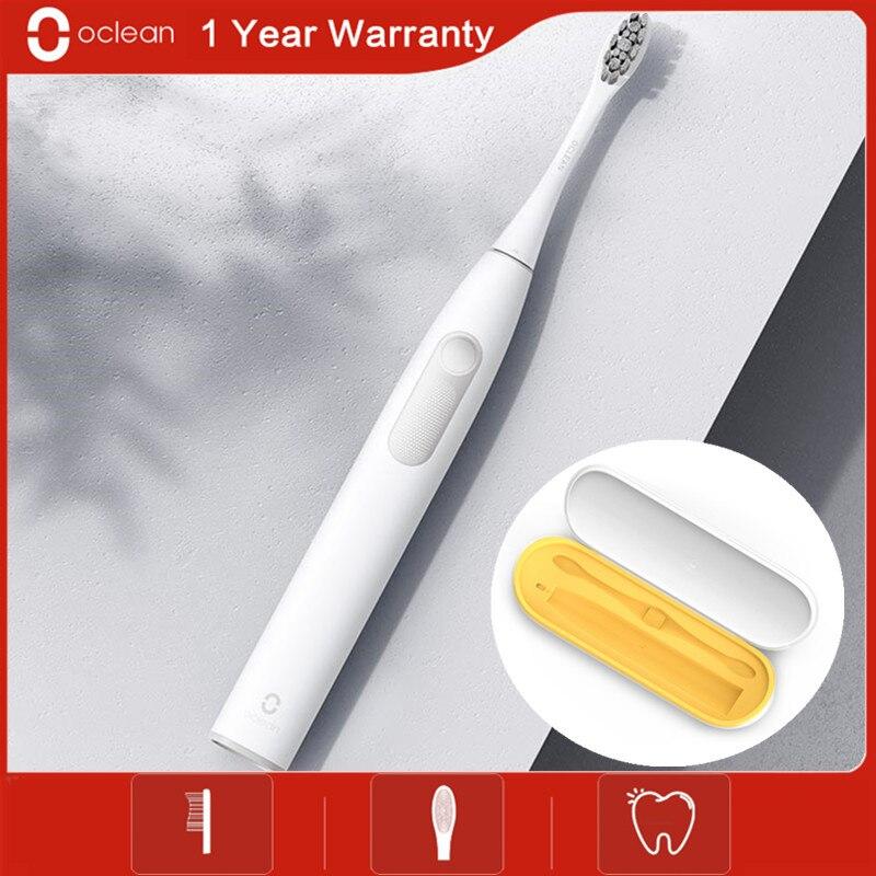 Cepillo de dientes eléctrico ocleano Z1 sonic para adultos ipx7impermeable Ultra sónico automático de carga rápida Cepillo para blanquear dientes Ultra sónico para el trabajo con Motor de seis colores