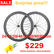 Carbon-Wheels Bicycle Road-Bike Deep-Clincher 700C Tubular Ultra-Light 24/30/35-/..