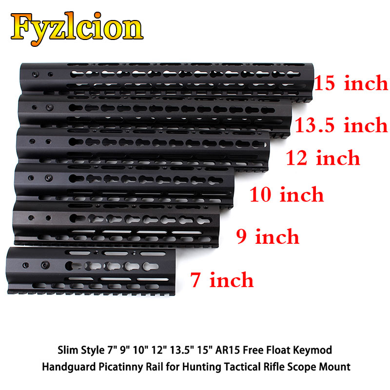 Tactical Rifle Scope Mount Slim Style 7 9 10 12 13.5 15 AR15 Free Float Keymod Handguard Picatinny Rail for Hunting