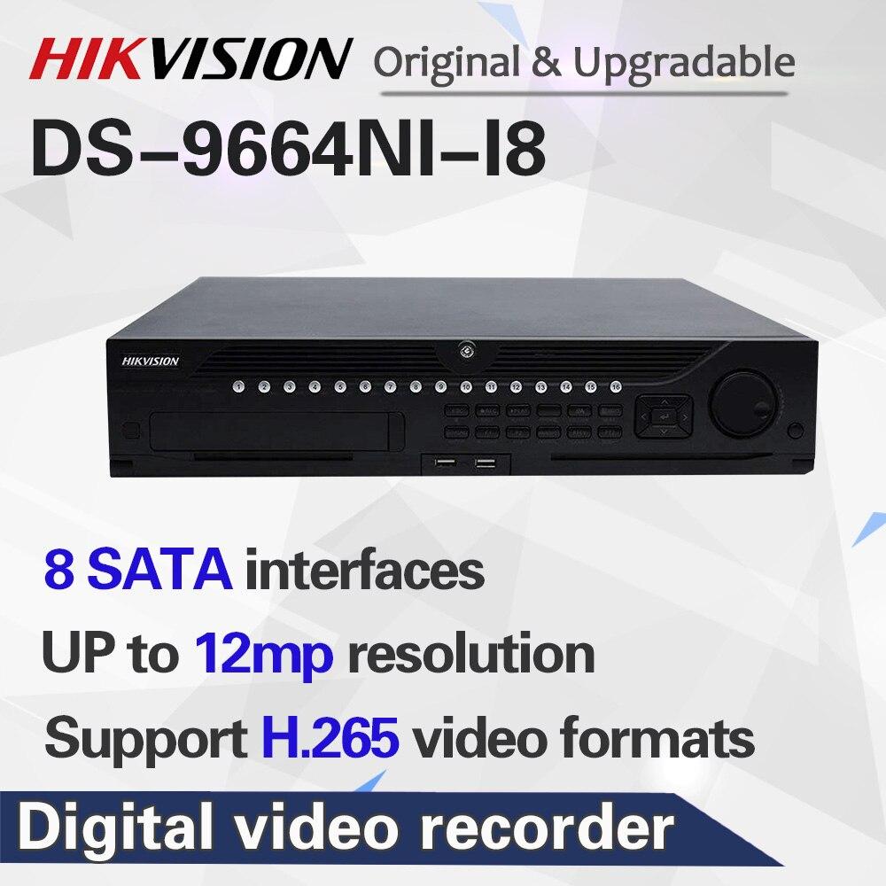 HIK профессиональная 64-канальная система видеонаблюдения DS-9664NI-I8 Встроенный 4K 64 CH NVR до 12 мегапикселей разрешение 8 SATA 2 HDMI